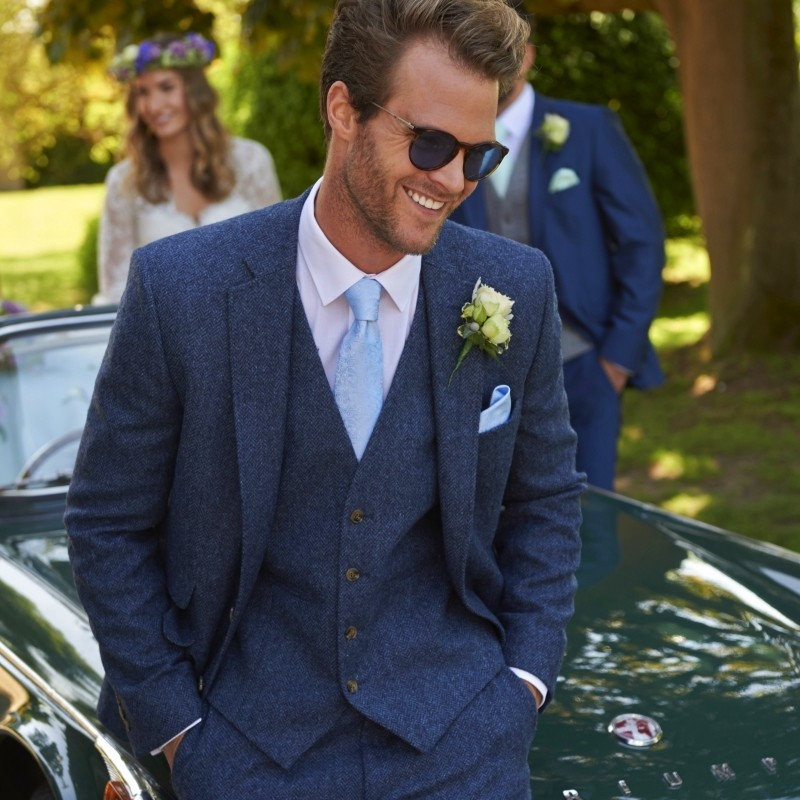 Shrewsbury Blue Tweed suit